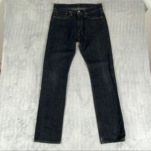 Ralph Lauren Polo 381 Slim Fit Straight Leg Dark Blue Denim Jeans Size 30 x 30